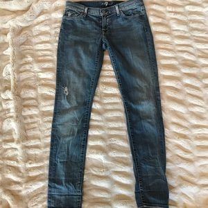 Seven for All Mankind Low Rise Straight Leg Jeans